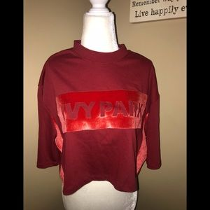 Ivy park crop top L NWT